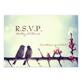 Love birds story 9 cm x 13 cm invitation card