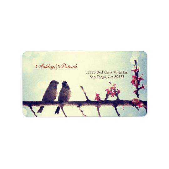Love birds story label