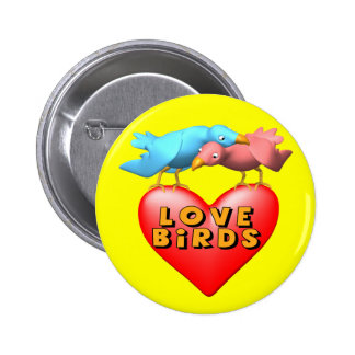 Love Birds T-shirts and Gifts Buttons