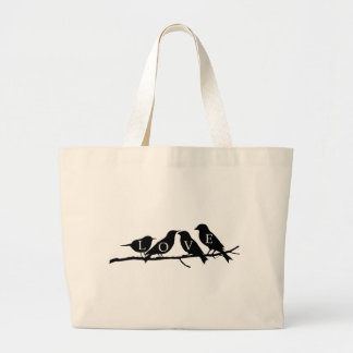 Love Birds Tote Bags