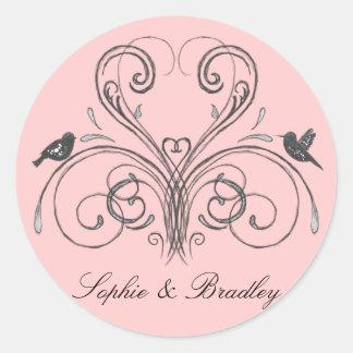 Love Birds Vintage Inspired Wedding Decor Stickers