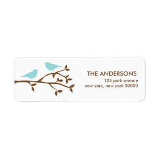 Love Birds Wedding Address Labels