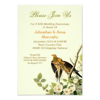 love birds wedding anniversary invitation