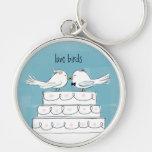 Love Birds Wedding Cake Kiss