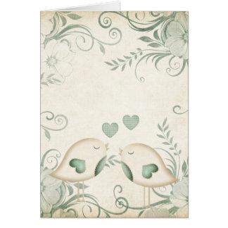 Love Birds Wedding Greeting Card