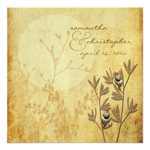 Love birds+wedding Invitations
