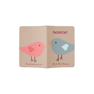 Love Birds Wedding Passport Holder
