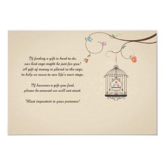 Love Birds Wishing Bird Cage Cards 9 Cm X 13 Cm Invitation Card