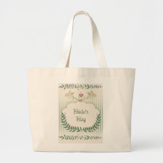 Love Birds with golden rings Canvas Bag