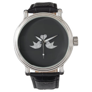 Love Birds with Heart Custom Color Wrist Watch