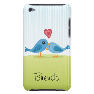 Love birds with heart cute personalized iPod case