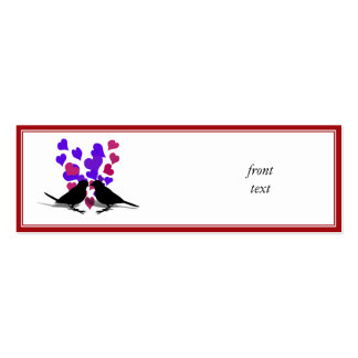Love Birds With Purple Hearts Business Card