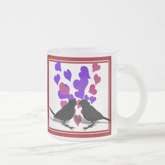 Love Birds With Purple Hearts Mug