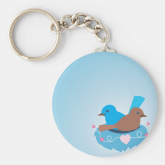 Love Birds wren brown Key Ring