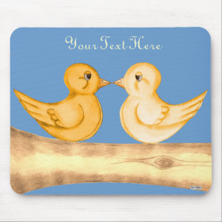 Love Birds (Yellow) Mousepad