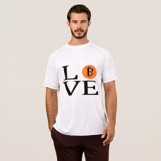 Love Bitcoin Cryptocurrency T-Shirt