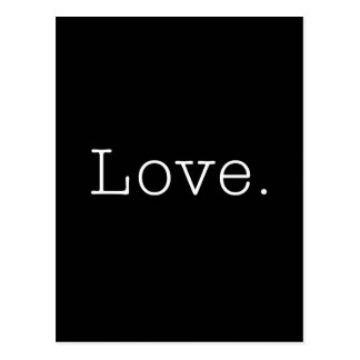 Love. Black And White Love Quote Template Postcard