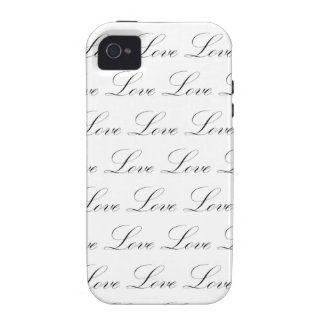 Love Black and White Script iPhone 4/4S Case