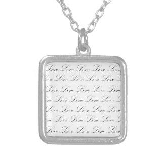 Love Black and White Script Custom Jewelry