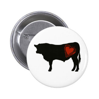 Love Black Angus Beef 6 Cm Round Badge