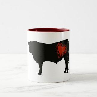 Love Black Angus Beef Two-Tone Mug