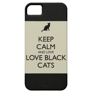 Love black cats barely there iPhone 5 case
