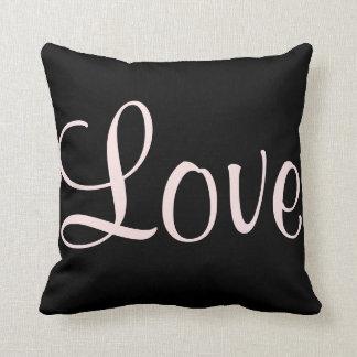 Love Black & Pink Custom Lighthouse Route Cushion