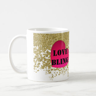 Love Bling And Glitter Coffee Cup Basic White Mug
