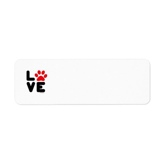 LOVE - Blk/Red Return Address Label