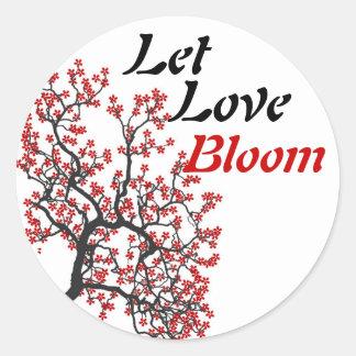 Love Bloom Round Sticker
