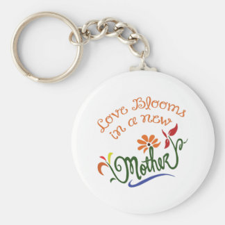 LOVE BLOOMS IN NEW MOTHER KEY CHAIN
