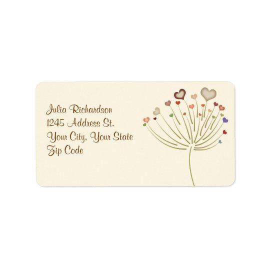 love blossom wedding address labels