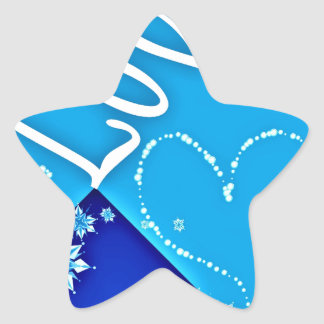 Love Blue All Star Sticker