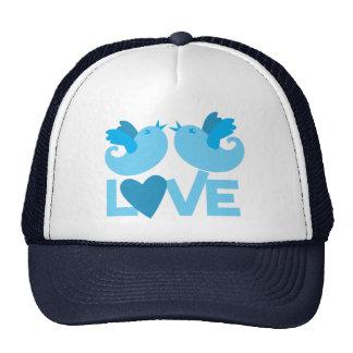 LOVE blue birds Cap