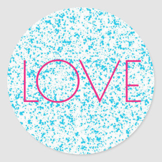 Love Blue Dalmatian Print Stickers