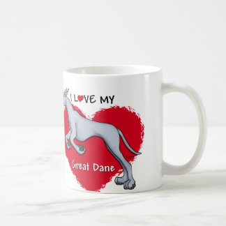Love Blue Great Dane Coffee Mug