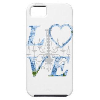 LOVE Blue Hydrangea Chandelier Case