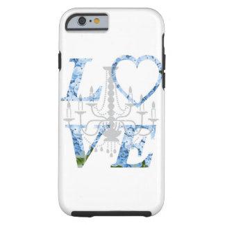 LOVE Blue Hydrangea Chandelier Case Tough iPhone 6 Case
