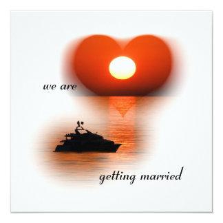 Love boat 13 cm x 13 cm square invitation card