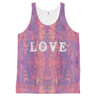 love boho design All-Over print singlet