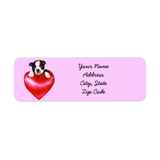 Love Boston Terrier Address Labels