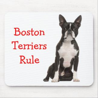 Love Boston Terrier Puppy Dog Computer Mousepad