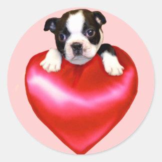 Love Boston Terrier stickers