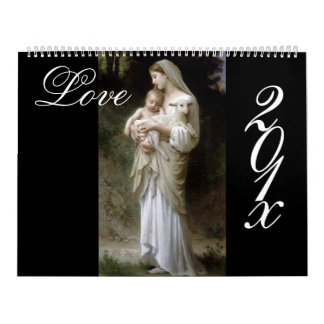Love, Bouguereau DIY calendar