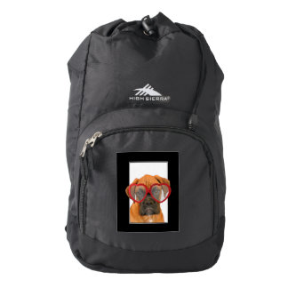 Love Boxer dog Backpack