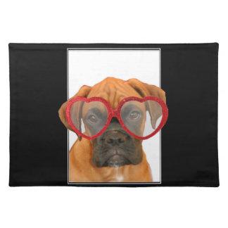 Love Boxer Dog Place Mat