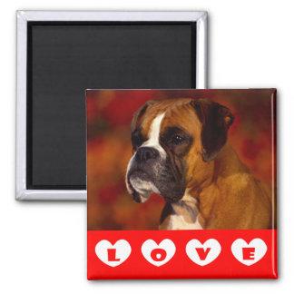 Love Boxer Puppy Dog Fridge Magnet