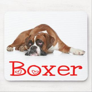 Love Boxer Puppy Dog Mousepad