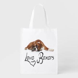 Love Boxer Puppy Dog Tote Bag