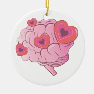 Love Brain Ceramic Ornament